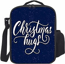 Kids Lunch Box Insulated Merry Christmas Navy