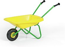 Kids Metal N Plastic Wheelbarrow - Yellow and Green