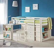 Kids Mid Sleeper Storage Bed, Happy Beds Roxy
