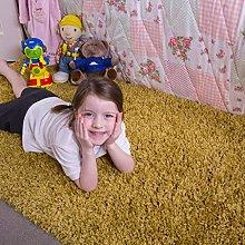 Kids Ochre Yellow Children's Warm Soft Shaggy