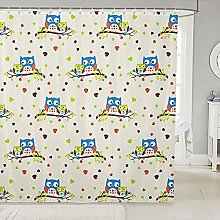 Kids Owl Fabric Shower Curtains Boho Owl