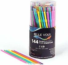 Kids Paint Brushes (144 Pack) - Plastic Paint