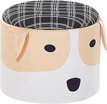 Kids Pouffe Dog Footstool Velvet Upholstered with