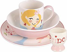 Kids Princess Plate Bowl Mug Egg Cup Se