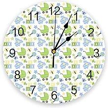 Kids PVC Wall Clock, Silent Non-Ticking Round