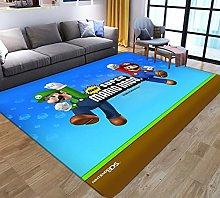 Kids Rug 3D Cartoon Anime Super Mario Printed