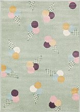 Kids rug Tommy Multicolour/Green 160x230 cm -