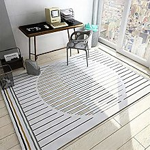 Kids Rugs Simple Striped Antifouling Carpets White