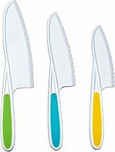 kids safe plastic nylon knife,3-Piece kid friendly