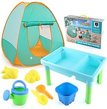 Kids Sand and Water Table - with Play Tent Set