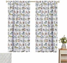 Kids Shading insulated curtain Cartoon Village of