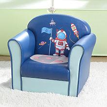 Kids Single Sofa, Mini Children Astronaut Pattern