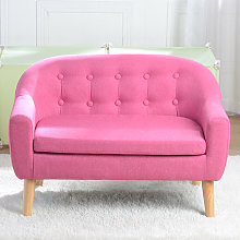 Kids Single Sofa, Mini Children Linen Armchair
