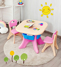 Kids Table Chair Set Children Toddler Study