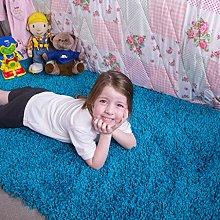 Kids Teal Blue Children's Warm Soft Shaggy