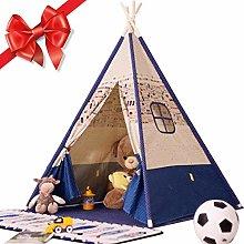 Kids Teepee Children Play Tent Cotton Canvas Kids