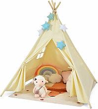 Kids Teepee Play Tent Folding Camping Wigwam