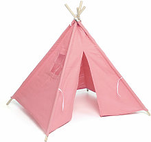 Kids Teepee Play Tent Playhouse Canvas Pink