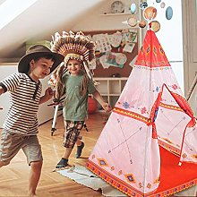 kids teepee tent, Portable Play Tent with Storage