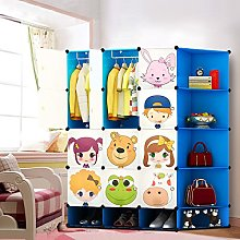 Kids Wardrobe Childrens Storage Cabinet Boxes