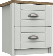 Kielder 2 Drawer Bedside Table - Grey