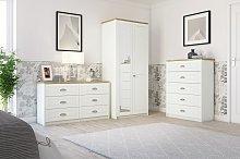 Kielder 3 Drawer Bedside Table - Grey