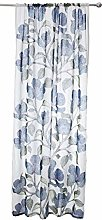 Kiera Raw Curtain 140x250 cm blue