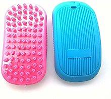 KIFFAY 2 Round Pet Bath Brushes, Massage Brushes,