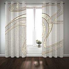 Kihomedy Blackout Curtain Grey, Bending Stripe