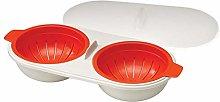 Kikier Microwave Egg Poacher, Double Cup high