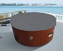 KiKiYe 76x14 Inches Round Hot Tub Cover Dust