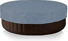 KiKiYe Round Hot Tub Cover Cap With Air Vents 80d