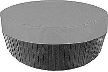 KiKiYe Round Hot Tub Cover Waterproof 420d Upgrade