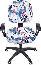 KiKiYe Stretch Print Computer Office Chair Cover,