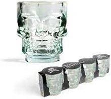 Kikkerland B.V. - Set of 4 Skull Shot Glasses