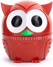 Kikkerland Design - Owlet Kitchen Timer - red -