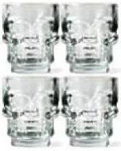 Kikkerland Design - Set of 4 Skull Shot Glasses