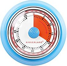 Kikkerland KT051-B Kitchen Timer, Steel, Blue