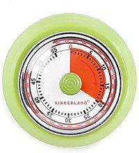 Kikkerland KT051-G Magnetic Kitchen Timer, Green,