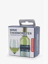 Kikkerland Stainless Steel Wine Bottle Thermometer