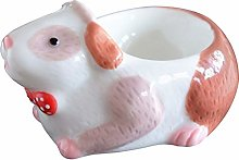 KIKO Ceramic Egg Cup,cute Animal Shape Porcelain