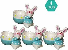 KIKO Porcelain Egg Cup,set Of Four Cute Rabbit