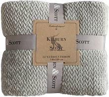 Kilburn & Scott Chevron Flannel Fleece Grey