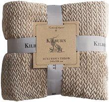 Kilburn & Scott Chevron Flannel Fleece Natural