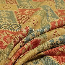 Kilim Patchwork Chenille Yellow Green Orange Blue
