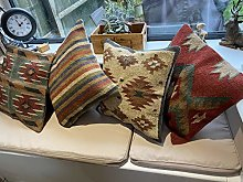 Kilim Pillow Case Boho Wool Jute Outdoor Cushion