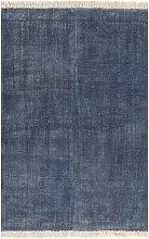 Kilim Rug Cotton 120x180 cm Blue