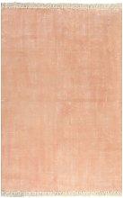 Kilim Rug Cotton 120x180 cm Pink - Pink - Vidaxl