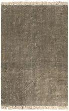Kilim Rug Cotton 120x180 cm Taupe - Brown - Vidaxl