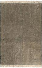 Kilim Rug Cotton 160x230 cm Taupe - Brown - Vidaxl